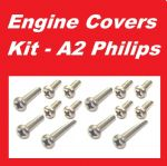 A2 Philips Engine Covers Kit - Kawasaki KX125